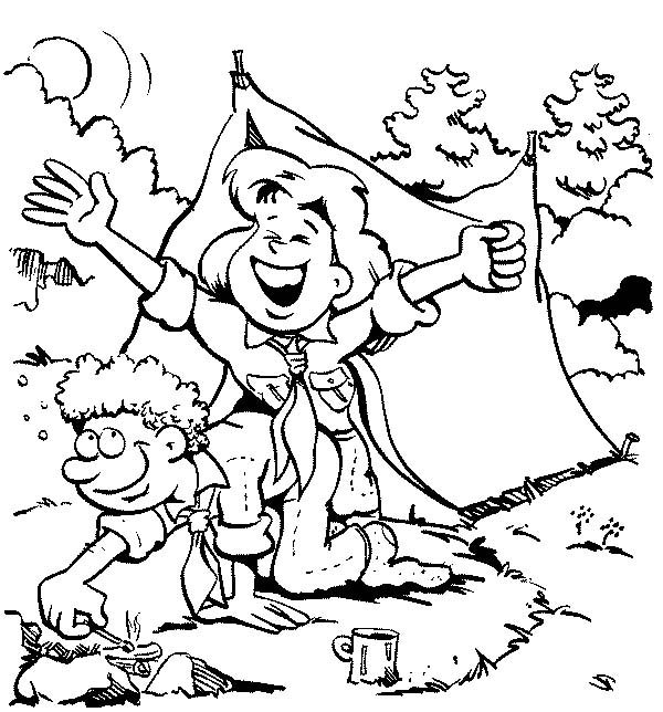 Scouting, : Scouting Activity Waking Up in the Morning Coloring Pages