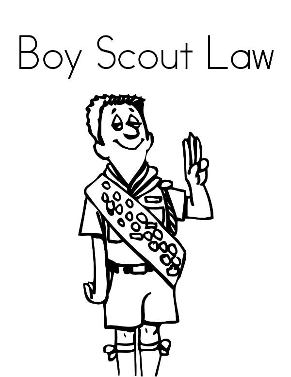 Scouting, : Scouting Law Coloring Pages