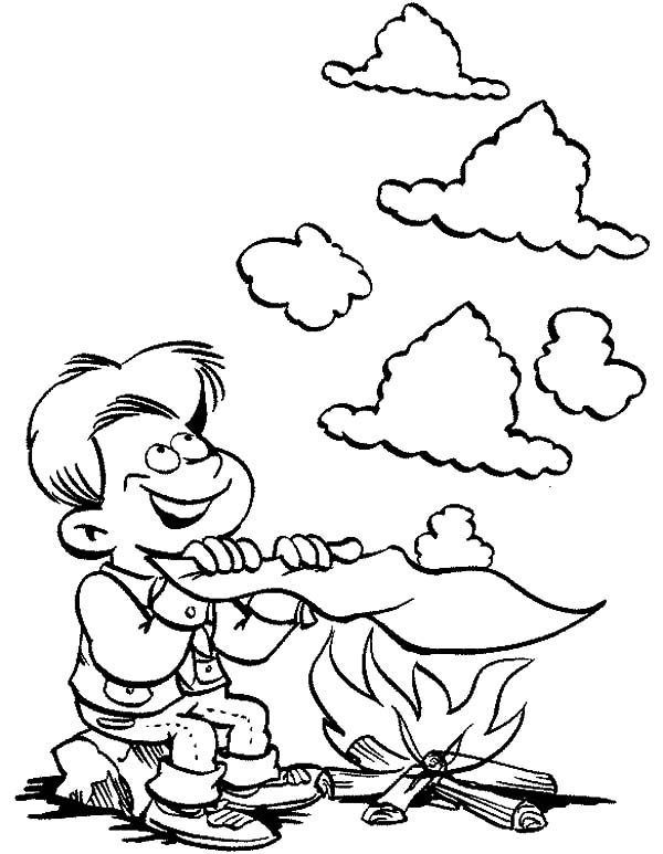 Scouting, : Scouting Smoke Code Coloring Pages