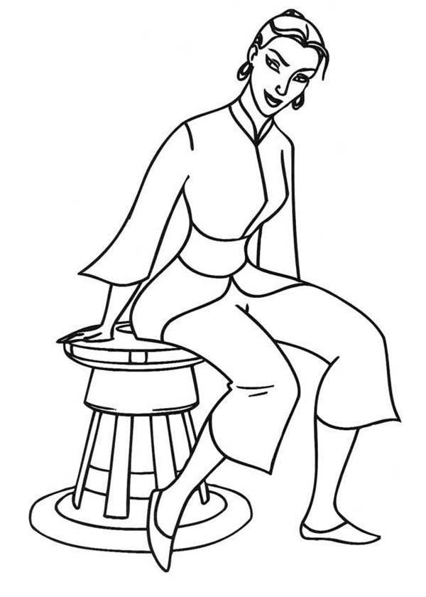 Sinbad the Sailor, : Sinbad the Sailor Mate Marina Coloring Pages