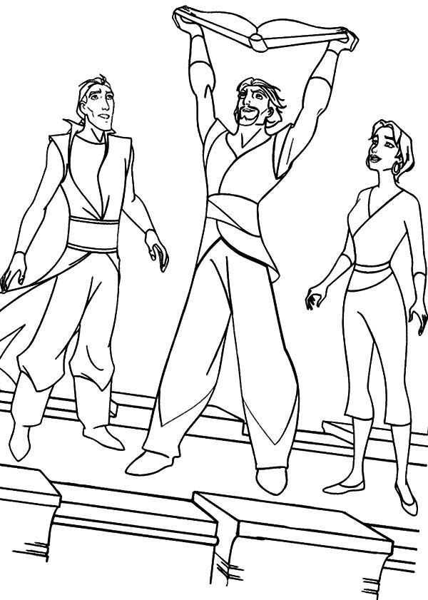 Sinbad the Sailor, : Sinbad the Sailor and Friends Coloring Pages