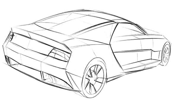 Camaro Cars, : Sketch of Camaro Cars Coloring Pages