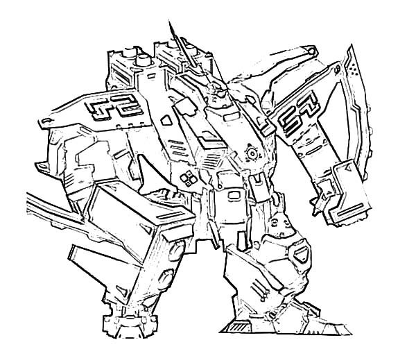 Robots, : Sketch of Combat Robot Coloring Pages