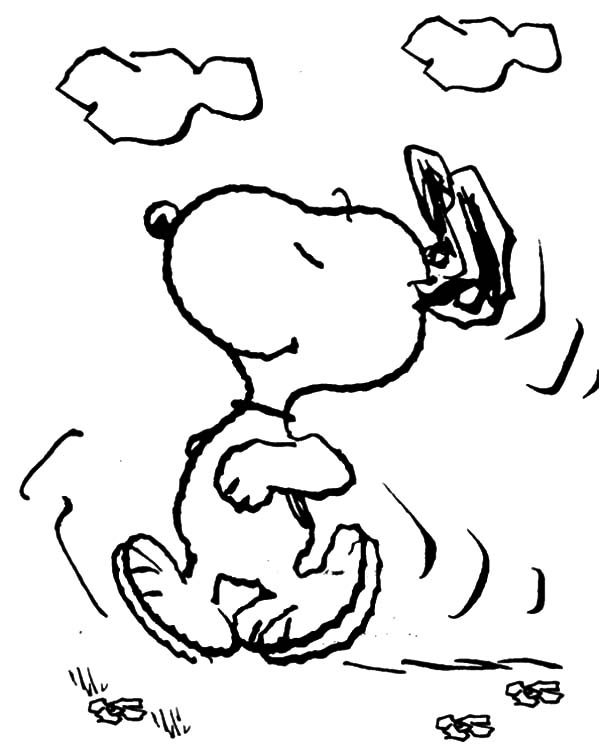 Snoopy, : Snoopy Wander Around Coloring Pages