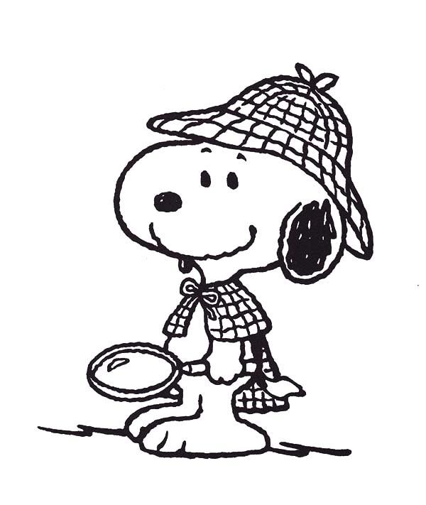 snoopy the private detective coloring pages snoopy the