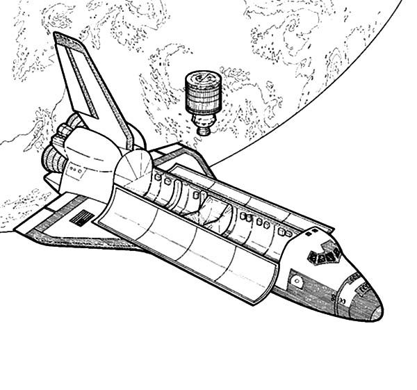 Space Travel, : Space Travel Coloring Pages