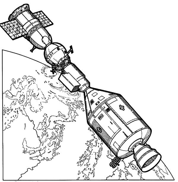 Space Travel, : Space Travel NASA Satelite Coloring Pages