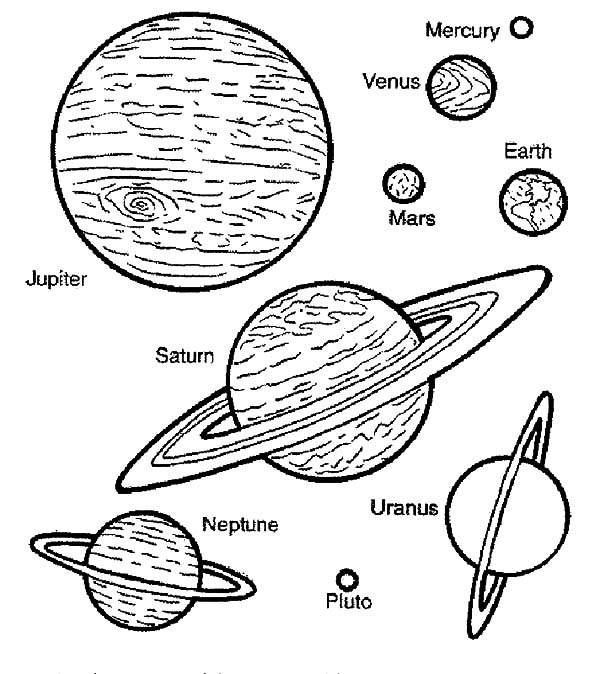 planets in space coloring pages - photo#6