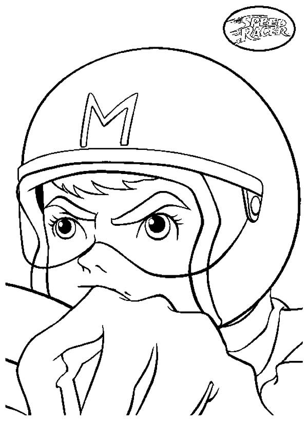 coloring pages speed racer - photo#19