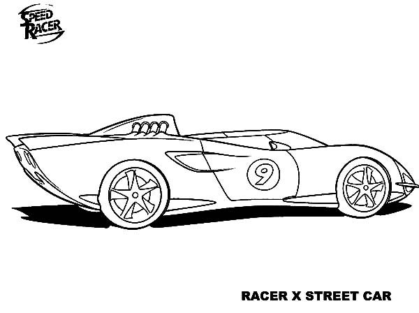 coloring pages speed racer - photo#34