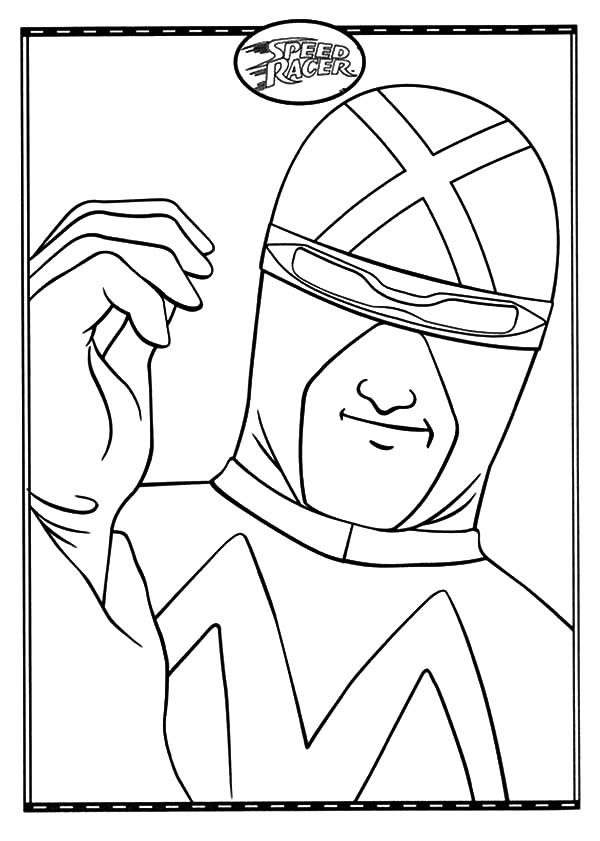 Speed Racer, : Speed Racer Ready to Race Coloring Pages