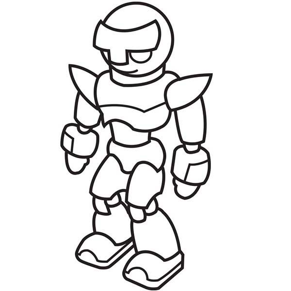 Robots, : Strong Fighting Robot Coloring Pages 2