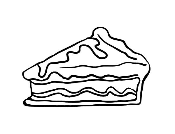 Cake Slice, : Sweet and Tasty Cake Slice Coloring Pages