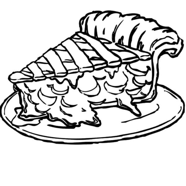 Cake Slice, : Tasty Cake Slice Coloring Pages
