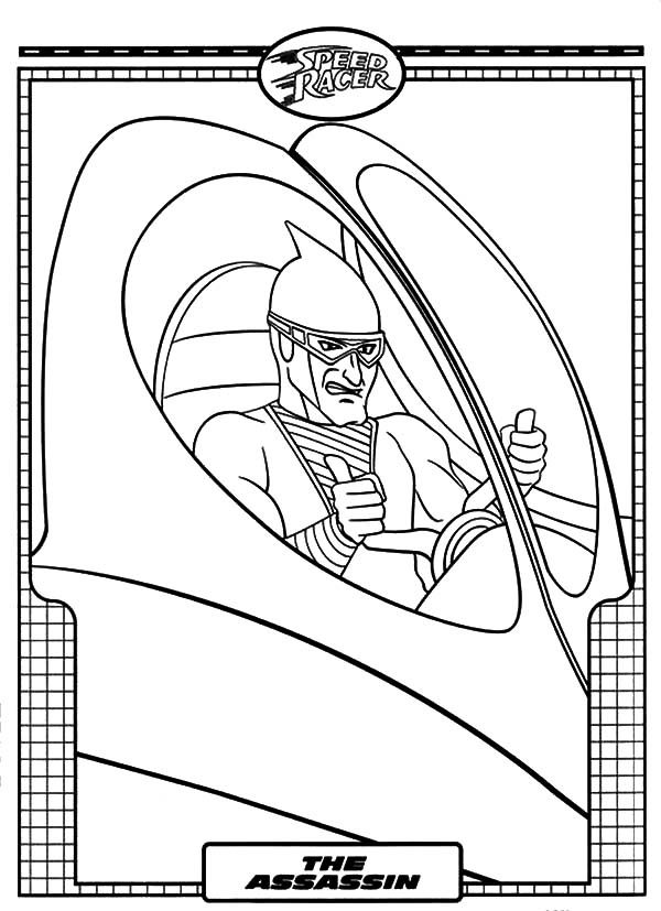 Speed Racer, : The Assasin Speed Racer Coloring Pages