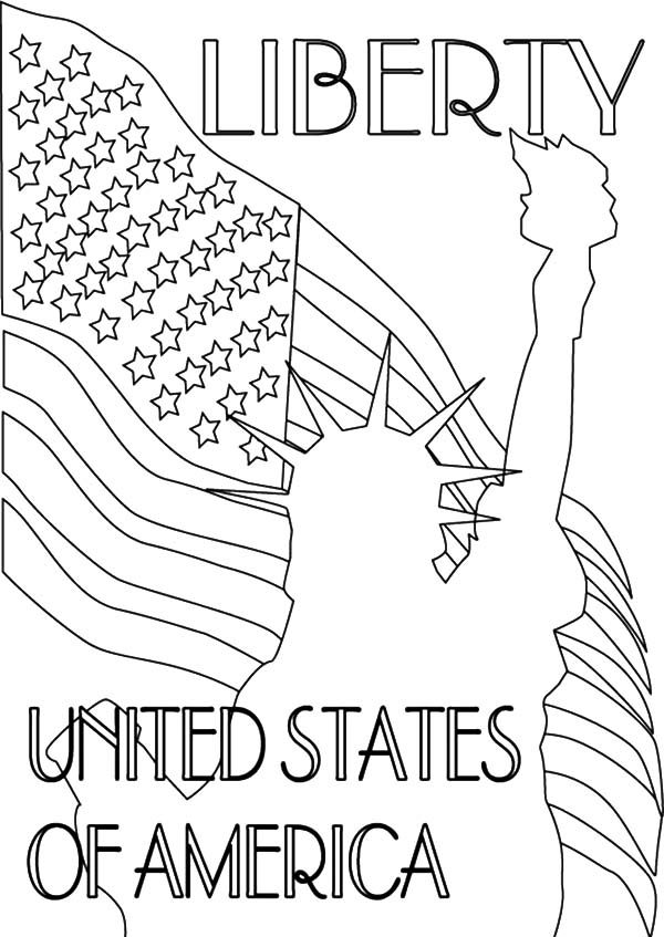 Patriots Day, : The Liberty of United States of America Patriots Day Coloring Pages