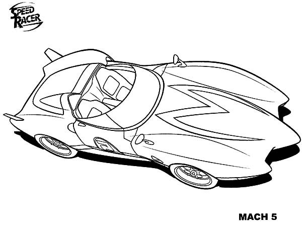 coloring pages speed racer - photo#27