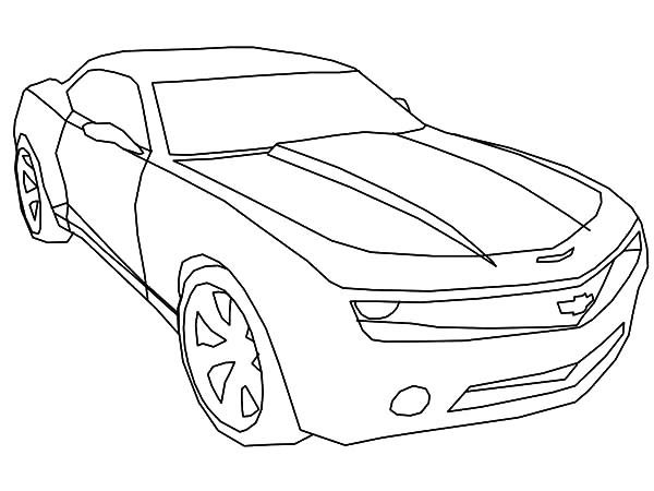 the transformes camaro cars coloring pages