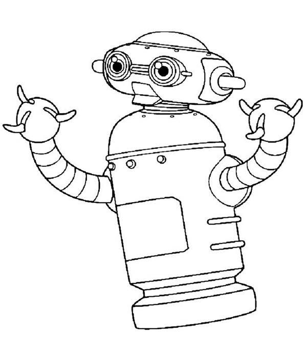 Robots, : Three Fingered Robot Coloring Pages
