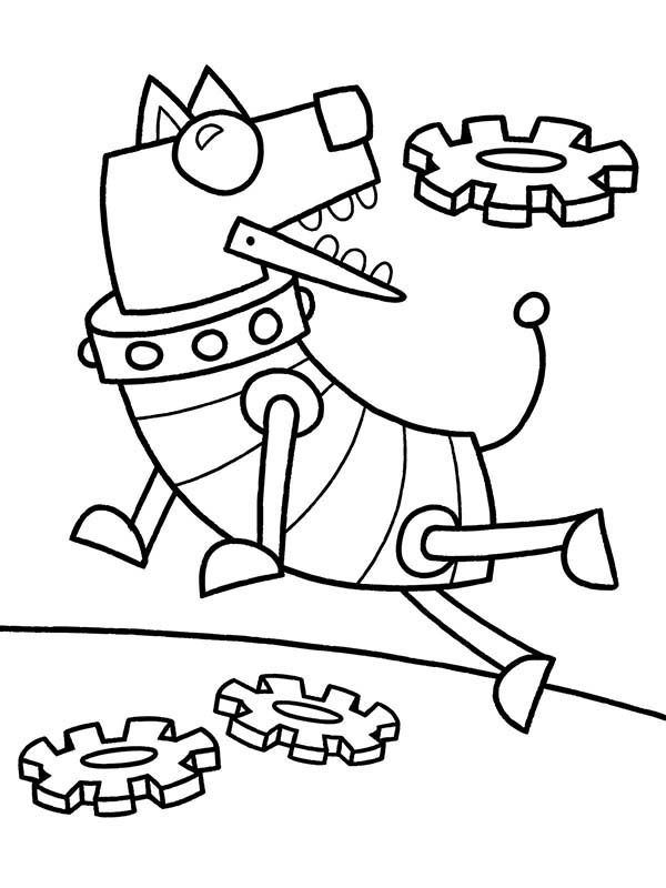 Robots, : Throwing Frisbee to Dog Robot Coloring Pages