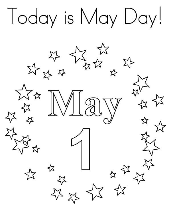 May Day, : Today is May Day Coloring Pages