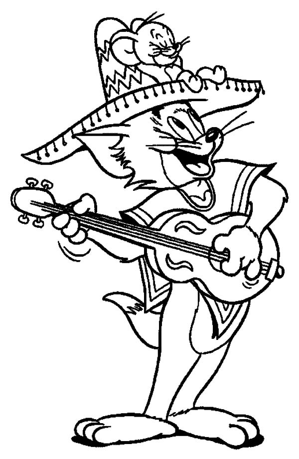 Tom and Jerry Celebrate Cinco de Mayo Coloring Pages | Best Place to ...