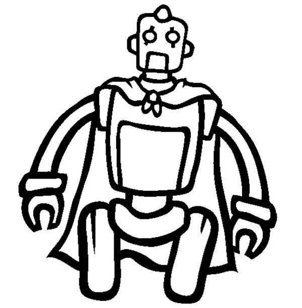 Robots, : Tom the Robot Coloring Pages