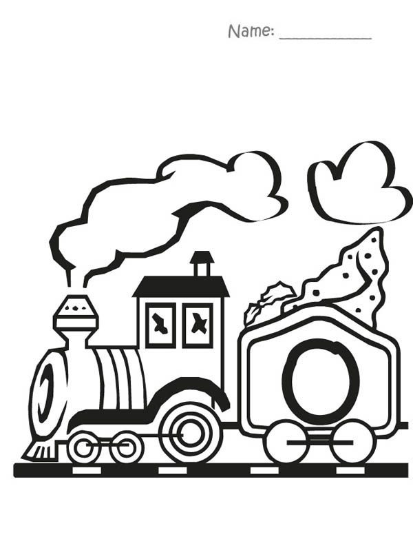 Letter O, : Train Bring Us Letter O Coloring Page