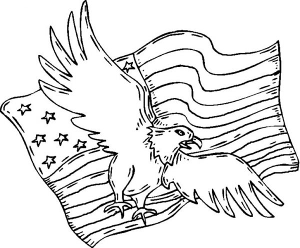 Patriots Day, : US Eagle Patriots Day Coloring Pages