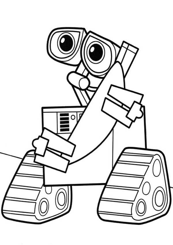 Wall e robot coloring pages wall e robot coloring pages for Wall size coloring pages