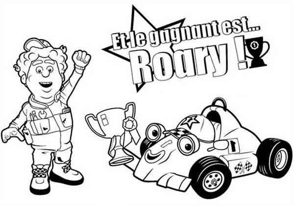 Roary the Racing Car, : Winning Racing Championship in Roary the Racing Car Coloring Pages