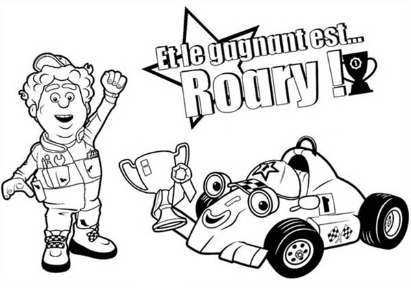 Roary the Racing Car, Winning Racing Championship in Roary the Racing Car Coloring Pages: Winning Racing Championship In Roary The Racing Car Coloring PagesFull Size Image