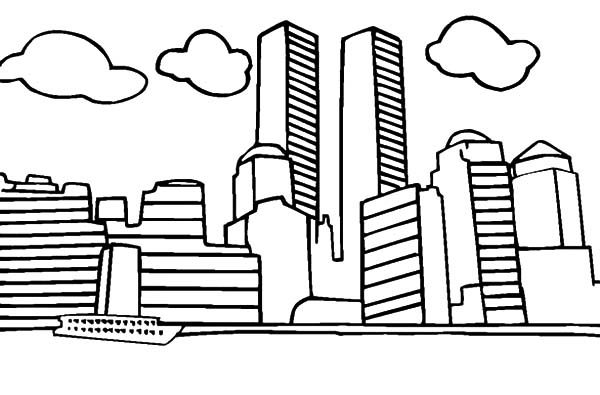 Patriots Day, : World Trade Center Patriots Day Coloring Pages