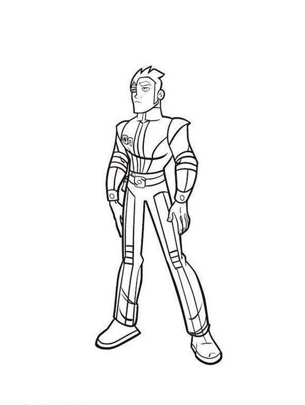 Rox, : Xavier Standing Tall in Rox Coloring Pages