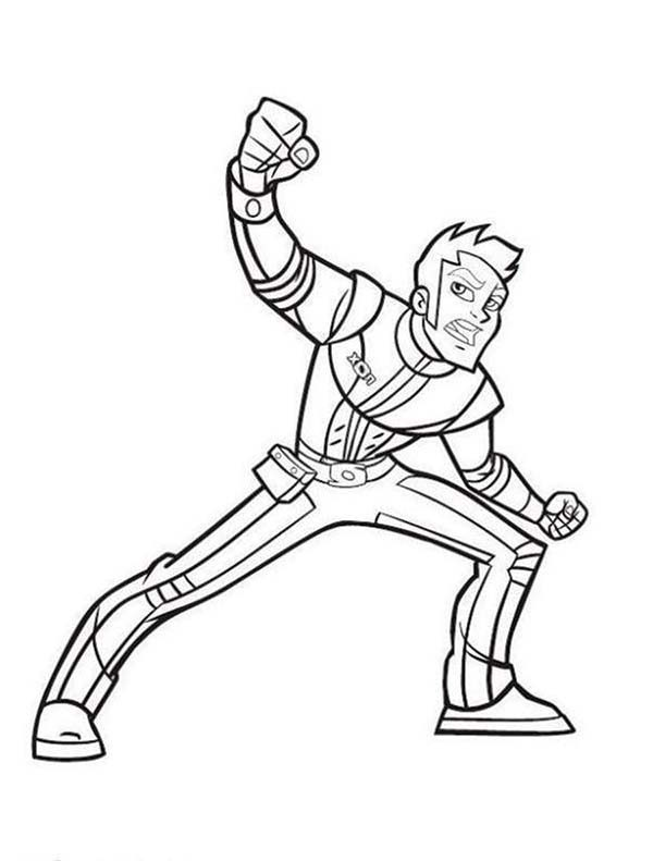 Rox, : Xavier Super Punch in Rox Coloring Pages