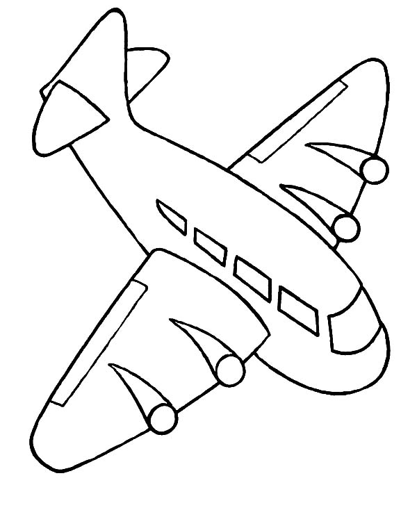 airplane color page - toys to free coloring pages