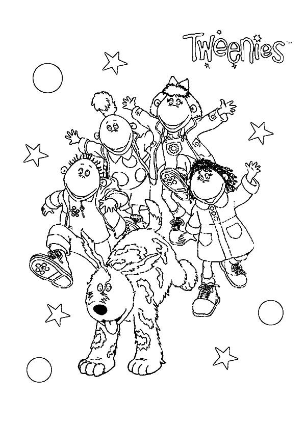 Tweenies, : All Tweenies Characters Coloring Pages