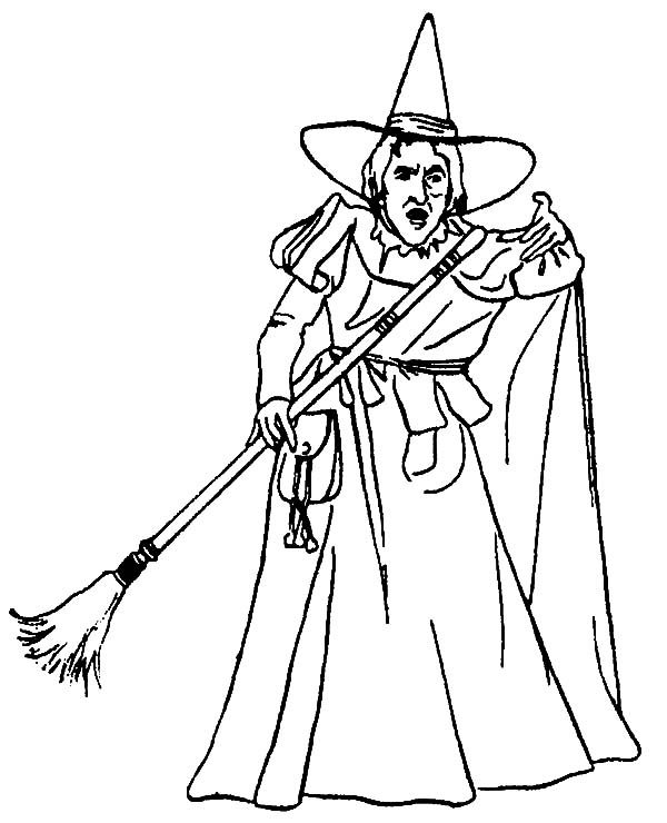 Witch, : Angry Witch Coloring Pages