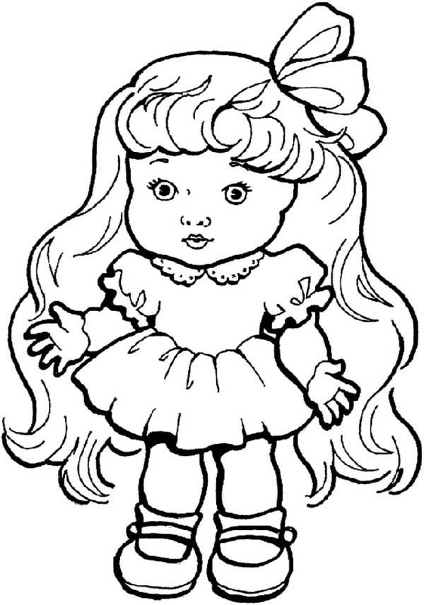 Toys, : Beautiful Doll Toys Coloring Pages