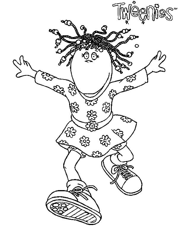 Tweenies, : Bella Tweenies Dreadlock Hair Coloring Pages