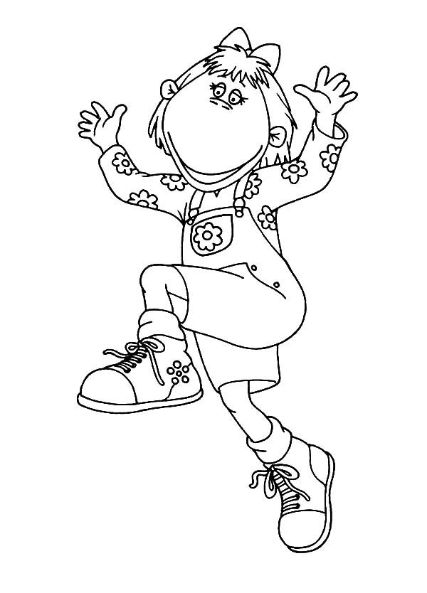 Tweenies, : Bella Tweenies Lifting Her Hand Coloring Pages