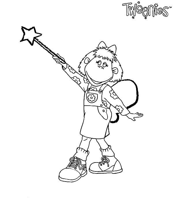 Tweenies, : Bella Tweenies Magic Wand Coloring Pages