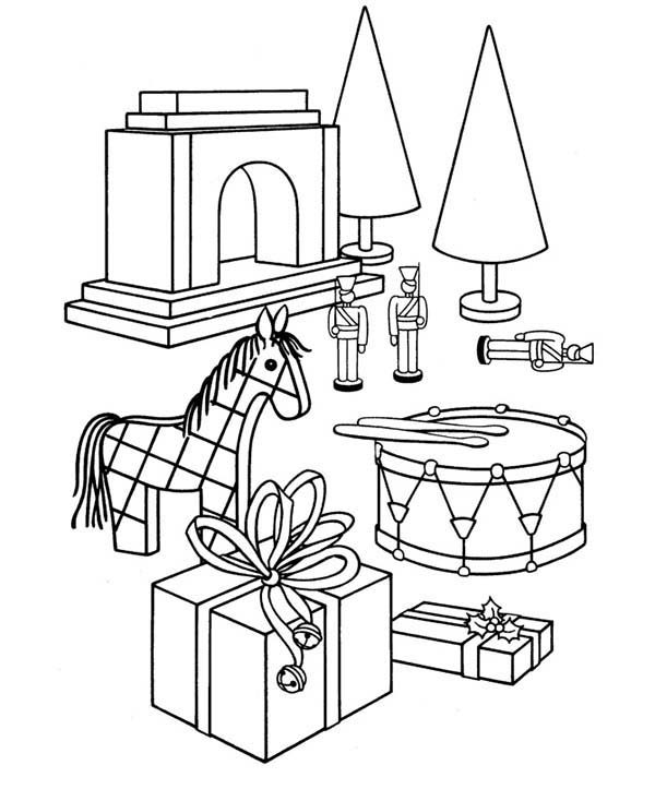 Toys, : Boys Toys Coloring Pages