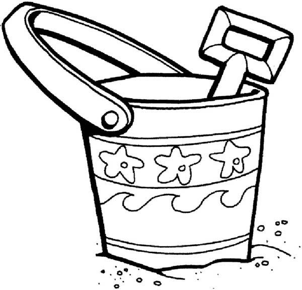 Toys, : Bucket and Shovel Toys Coloring Pages
