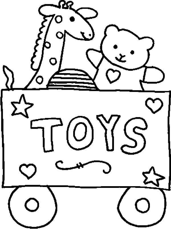 Toys, : Carriage Full of Toys Coloring Pages