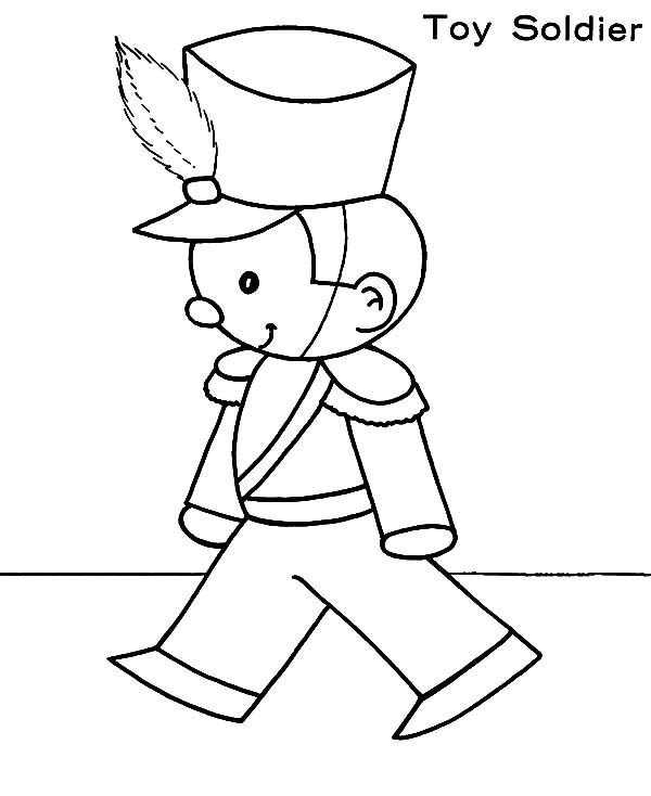 Toys, : Christmas Toys Little Soldier Coloring Pages