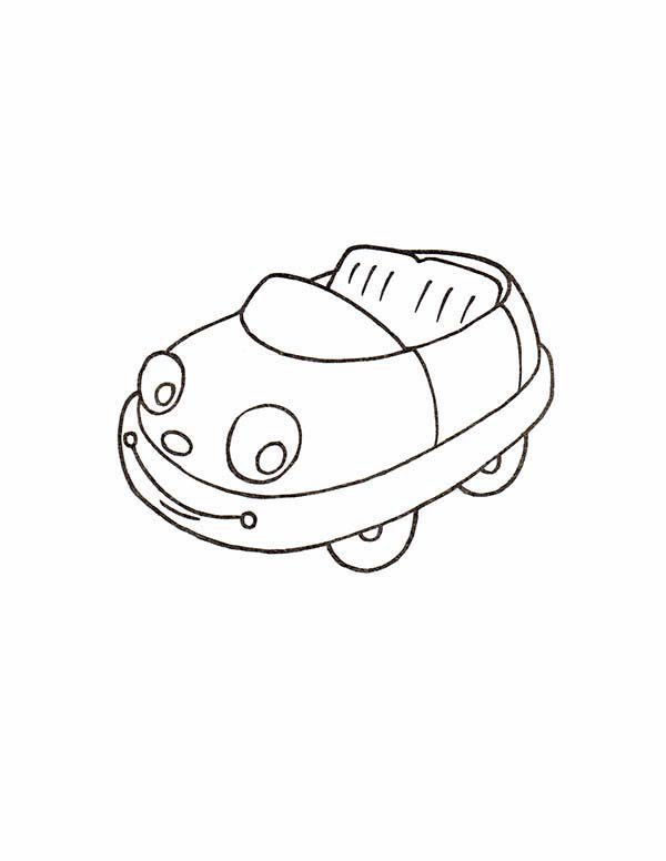Toys, : Cute Car Toys Coloring Pages
