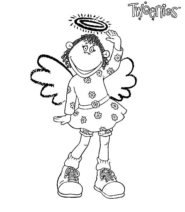 Fizz Tweenies The Angel Coloring Pages