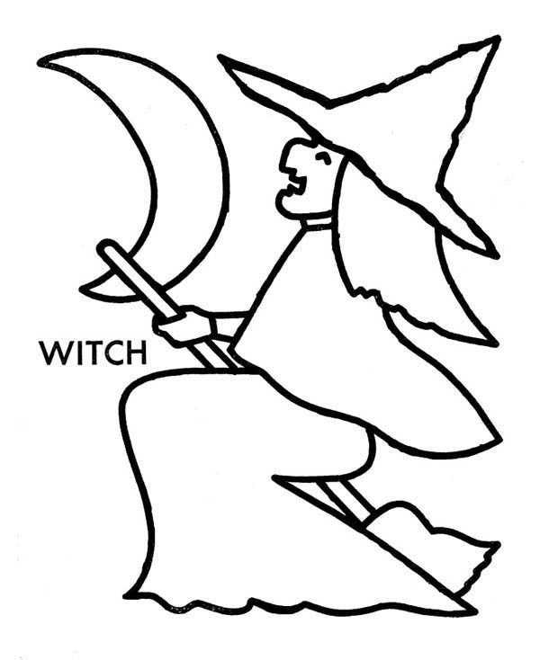 Witch, : How to Draw Witch Coloring Pages