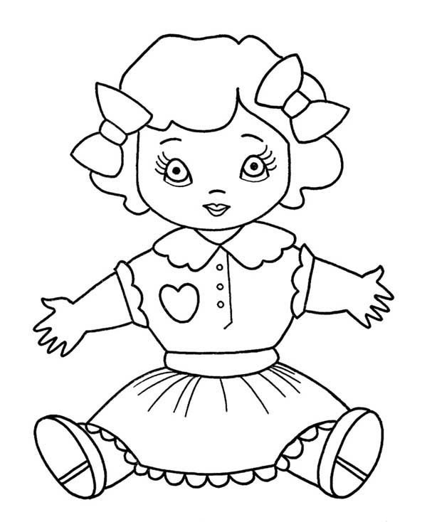 Hug Me Doll Toys Coloring Pages